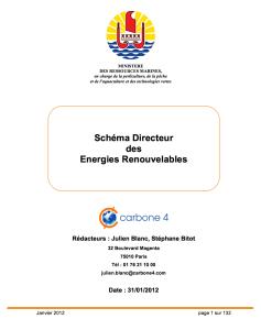 Schéma directeur des energies renouvelables