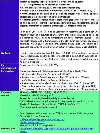 Entreprise Europe Network: Réseau Entreprise Europe2