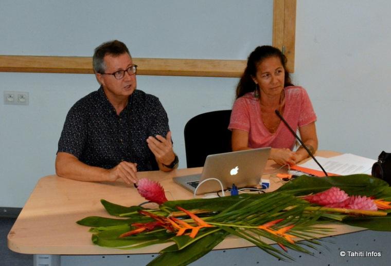 François Briant, créateur du réseau biomimétisme, et Lina Huan, de Tahiti Faahotu.jpg