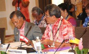 Fritch défend des projets régionaux au Polynesian Leaders Group