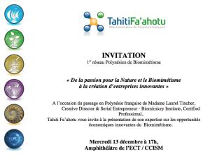 invitation 13 décembre 2017 BIOMIMETISME